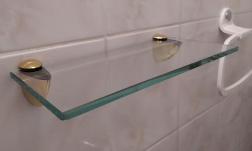 półki szklane do łazienki na wymiar
